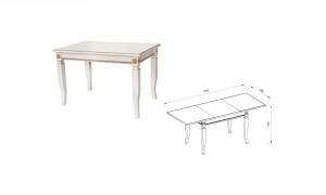 Стол прямоугольный «Афина оро»