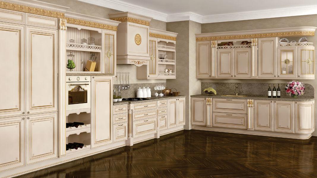 Кухня Лукреция слоновая кость