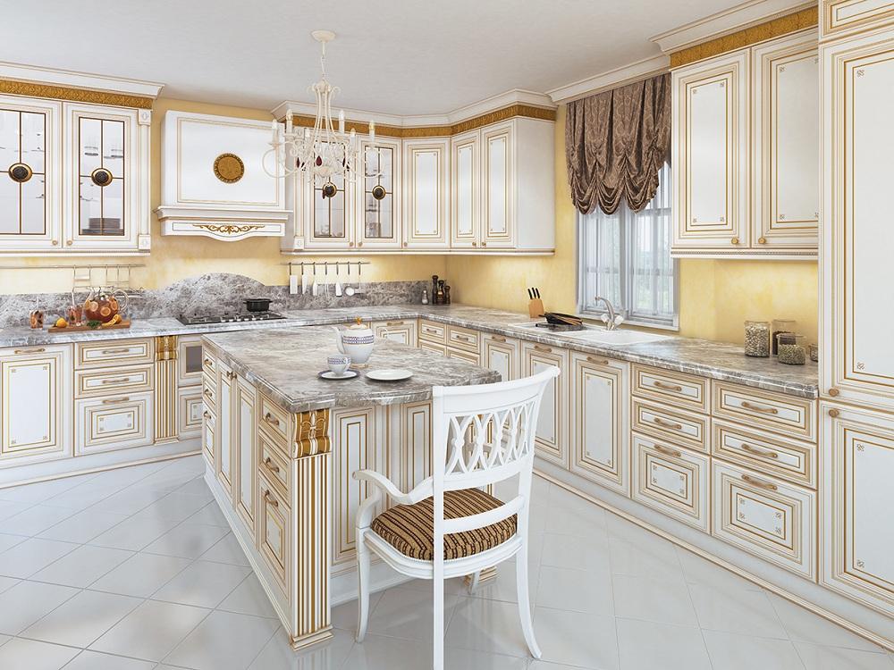 Кухня Лукреция золотая